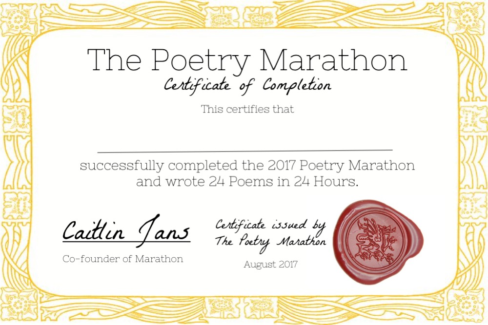 Poetry Marathon Part 2