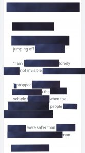 blackout poem using the quotes from prompt 17