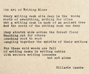 The Art of Writing Alone